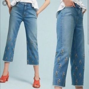Pilcro & the Letterpress Embroidered Jeans